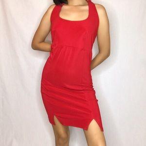 90s Red Halter Dress